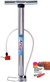 Raj Airkraft High Pressure Chrome Air Pump for Car Bike Bicycle Motorcycle Ball and Inflatable Furniture/Toys