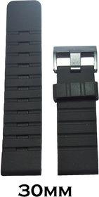 Kolet 30Mm Silicone Watchband (Black)