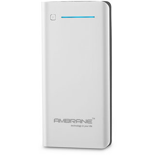 Ambrane Power Bank P-2000 (20 800mAh ) White 1 Year Manufacturer Warranty