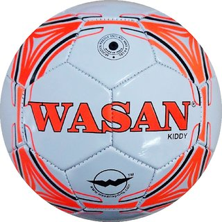 Wasan Football Kiddy White- Size 3 -(Under 8 Years)