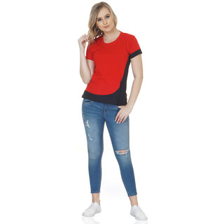 Chauhan Multi-color Half Sleeve Round Neck Casual T shirt