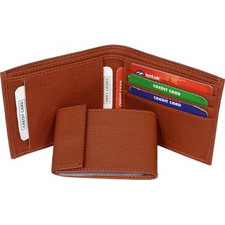 7a7e147ad55e Buy Style96 Leather Men  Slim Wallet With Card Holder Coin Pocket (Tan)  Online - Get 81% Off