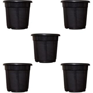 Flower Pots 8 inch Set of 5, Plant Container ( External Height - 20 cm)