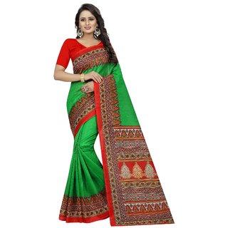 Vibha Green Color Bhagalpuri Printed Saree -Devdas Green