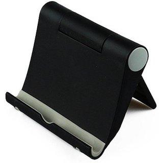 Techvik Universal Foldable Stand Holder Mount Bracket for Tablet , Cell , Mobile Phone table Stand Mobile Holder