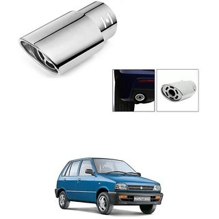 KunjZone 6 Hole Stainless Steel Exhaust Muffler Silencer Cover For Maruti Suzuki 800