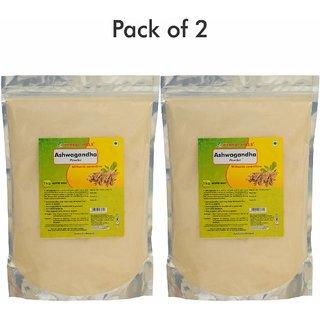 Herbal Hills Ashwagandha Powder - 1 kg powder - Pack of 2