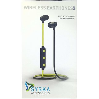 Syska H-15 Wireless Earphone(yellow)