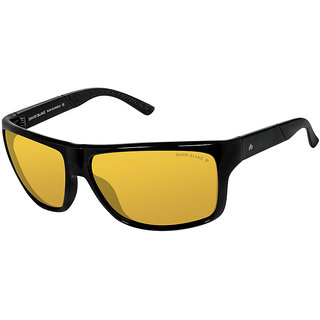 David Blake Yellow Rectangular Polarised & UV Protected Sunglass