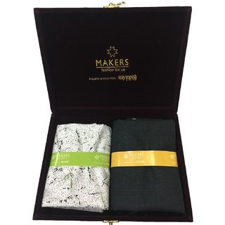 Raymond Makers Unstitched Fabric for Shirt & Trouser in Velvet Gift Box