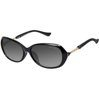 David Blake Black Oval Gradient, UV Protected Sunglass