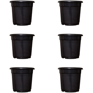 Flower Pots 8 inch Set of 6, Plant Container ( External Height - 20 cm)