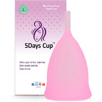 5DAYSCUP Menstrual Cup For Better Periods. No Rashes ,No Allergy (Large, Pink 1Pc)