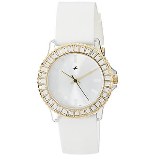 Fastrack Hip Hop Analog White Dial Womens Watch - NE9827PP01J