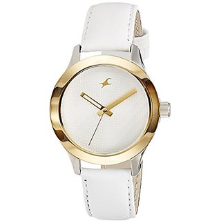 Fastrack Monochrome Analog White Dial Womens Watch - 6078SL02