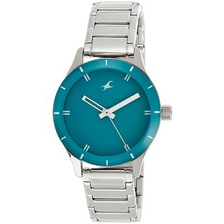 Fastrack Monochrome Analog Green Dial Womens Watch - 6078SM01