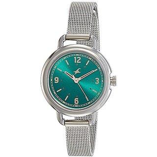Fastrack Analog Green Dial Girls Watch-6123SM05
