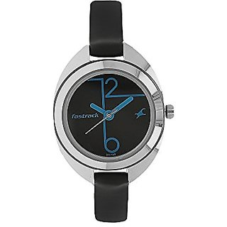 Fastrack Analog Black Dial Womens Watch-6125SL01