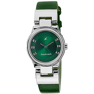 Fastrack Analog Green Dial Womens Watch - 6114SL04