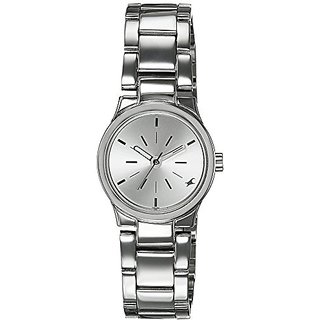 Fastrack Analog Silver Dial Womens Watch - 6114SM01