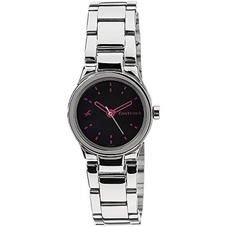 Fastrack Analog Black Dial Womens Watch - 6114SM02