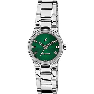 Fastrack Analog Green Dial Womens Watch - 6114SM03
