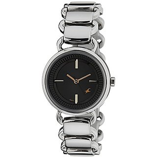Fastrack Analog Black Dial Womens Watch - 6117SM01