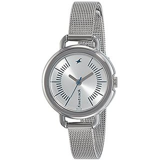 Fastrack Analog Silver Dial Womens Watch-6123SM02