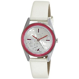 Fastrack Analog White Dial Womens Watch-6144SL01