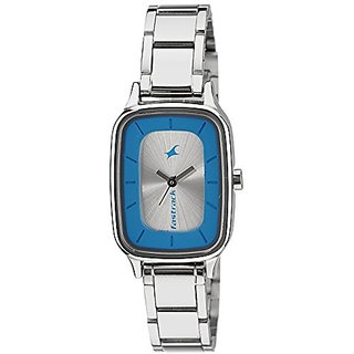 Fastrack Analog Silver Dial Womens Watch - 6121SM01
