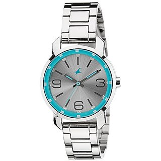Fastrack Analog Silver Dial Womens Watch - 6111SM01