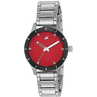 Fastrack Analog Red Dial Womens Watch-6078SM05