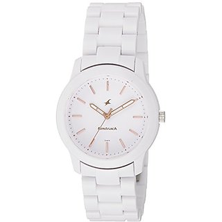 Fastrack Trendies Analog White Dial Womens Watch-68006PP02