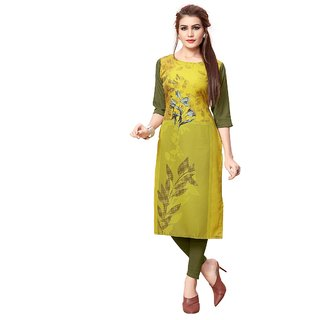 Women's Digital Printed American Crepe Straight cut Kurti95