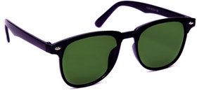 TheWhoop UV Protected Black Green Wayfarer Unisex Sunglasses. Square Shape Stylish Goggles For Men Women Girls Boys
