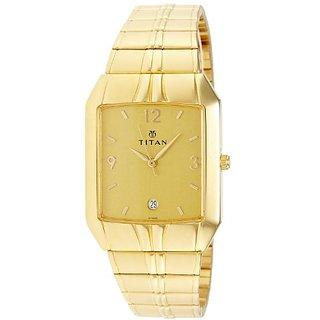 Titan Karishma Analog Golden Dial Mens Watch -NJ9264YM02A