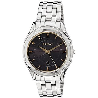 Titan Tycoon Analog Black Dial Mens Watch - NE1558SM02