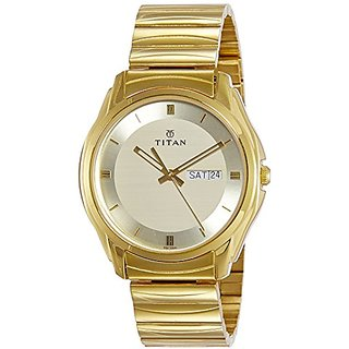Titan Karishma Analog Gold Dial Mens Watch -NK1578YM05
