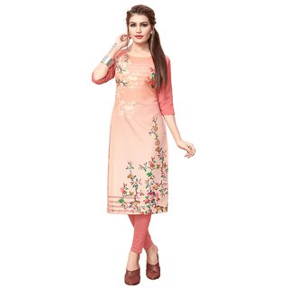 Women's Digital Printed American Crepe Straight cut Kurti-98