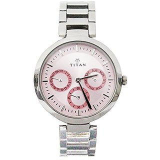 Titan Youth Analog Pink Dial Womens Watch -NK2480SM05