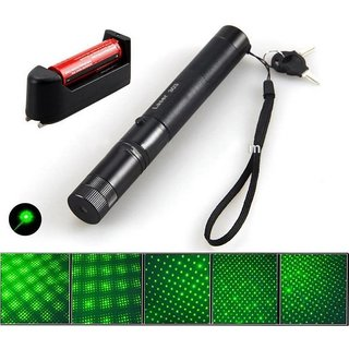500mW Rechargeable Green Laser Pointer Party Pen Disco Light 5 Mile + Battery