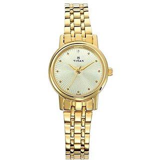Titan Karishma Revive Analog Champagne Dial Womens Watch-2593YM01