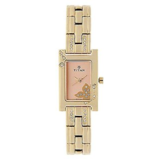 Titan Womens Analogue Metallic Watch - NJ9716WM01E