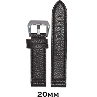 Kolet 20mm Dotted Leather Watch Strap (Dark Brown)