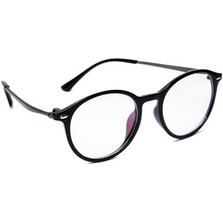 3cc467fabe5 Buy TheWhoop Full Rim Black Round Unisex Spectacle Frame. Transparent  Nightwear Eyeglasses for Men and Women Online - Get 73% Off