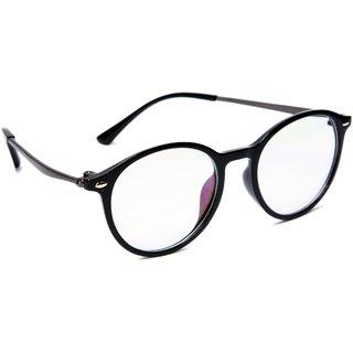 19fa39ef685 Buy TheWhoop Full Rim Black Round Unisex Spectacle Frame. Transparent  Nightwear Eyeglasses for Men and Women Online - Get 73% Off