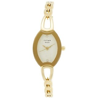 Titan Raga Analog Beige Dial Womens Watch - NB2332YM02
