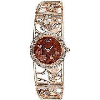 Titan Raga Aurora Analog Brown Dial Womens Watch-95045WM01