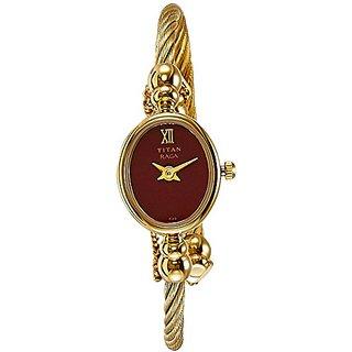 Titan Raga Analog Red Dial Womens Watch - 197YM02