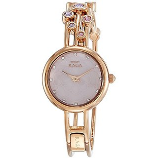 Titan Analog Mother Of Pearl Dial Womens Watch-9975WM02E